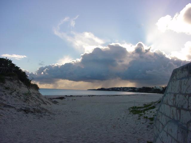 Rain Storm Bermuda Beach
