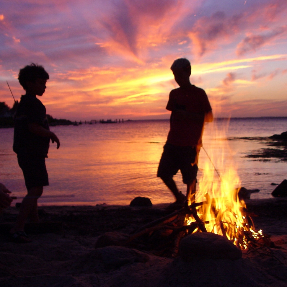 Bonfire on Fishers Island