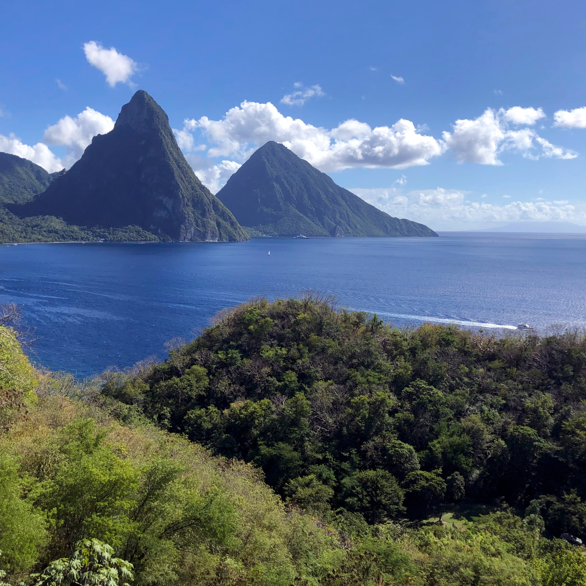The Piton Range St. Lucia