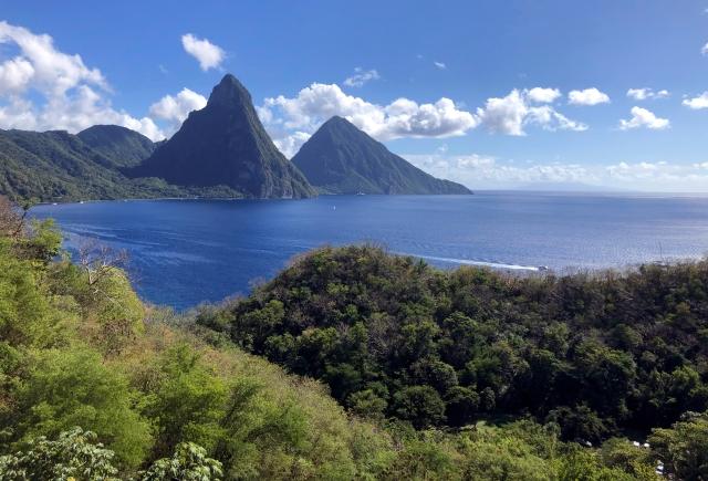 The Piton Range St. Lucia